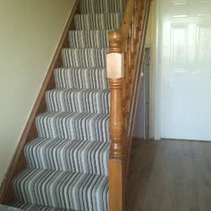 Stair carpet.