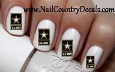 50pc US Army logo Nail Decals Nail Art Nail Stickers Best Price NC469