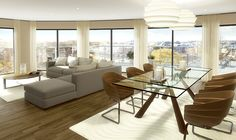 Redrow Kingston Riverside. Apartments & penthouses in Kingston upon Thames - CGI showing how they 'could' look
