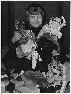 WPA: Toy Repair Projects: toys and dolls mended by workers: many of the dolls are made available to underprivileged children through Toy Lending Libraries . ca. 1935