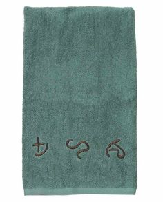 Turquoise Brands 4-Piece Hand Towel Set Housewares rustic western decor drysdales.com outdoors the american west colorado wyoming montana lodge cabin country home #countryhome #countryliving #rustichome #logcabindecor