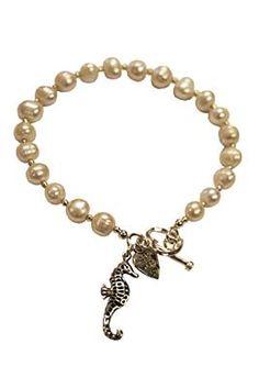 Rebecca Watson Designs Silver & Cream Pearl Seahorse Bracelet http://www.youngideasfashion.com/store/product/13361/Rebecca-Watson-Designs-Silver-%26-Cream-Pearl-Seahorse-Bracelet/