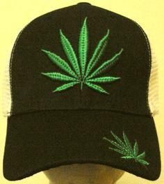 MARIJUANA CANNABIS CHRONIC KUSH POT WEED HEMP LEAF TRUCKER MESH CAP HAT SNAPBACK #PremiumHat #Trucker