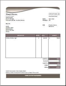 Invoice Template Microsoft Carpet Installation Invoice Download At Httpwww .