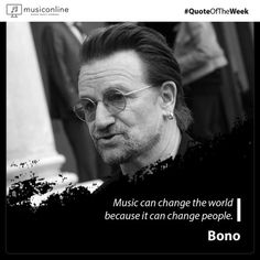 This week's Quote belongs to Paul David Hewson, the lead singer and songwriter of the Irish rock band in short 'Bono'! Bono Quotes, Music Quotes, Online Music Lessons, Music Online, U2 Lyrics, Irish Rock, Bono U2, Quote Of The Week, Student Discounts
