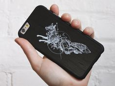 Kerby Rosanes Geometric Fox - Kerby Rosanes - Special Edition - Shop | Custom Wood Phone Cases & Skins for iPhone, Galaxy, Nexus