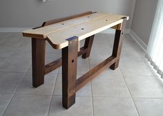 Sawyer's Bench - Hard Maple and Walnut with brass accents