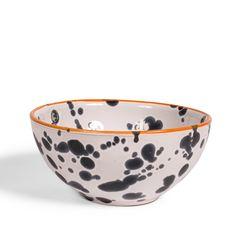 Heal's Navy Splatter Bowl