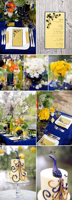 """Starry Night Wedding Inspiration. Now the colors, flowers, and layout is what I like in this. The """"Starry Night"""" isn't right in your face, but you get the over all feel. I don't want it to be like a birthday theme where """"Starry Night"""" has puked everywhere lol"""