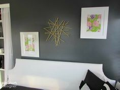DIY Starburst Gold Wall Decor Tutorial