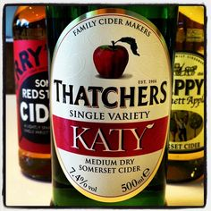 Thatchers Katy Medium Dry Somerset Cider - 7.4% Vol. - made with single variety Katy apples