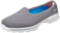 Skechers Performance Women's Go Walk 3 Insight Slip-On Walking Shoe, Gray, 5 M…