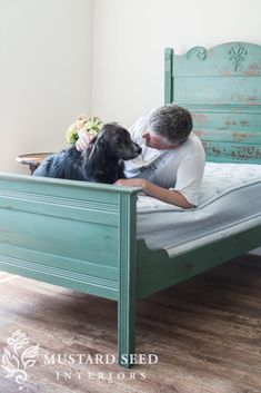 I finished the twin cottage bedtoday and I hadso much fun styling it to shoot. Let me back up, though. We painted it in two coats of a custom mix of Kitchen Scale and Boxwood fromthe MMS Milk Paint line. After the second coat, the milk paint started chipping in certain places. It pulled up the pale pink paint as ... Read More