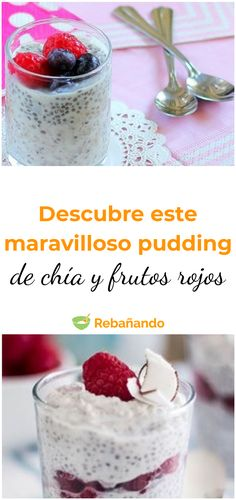 Chia Pudding, Cereal, Lunch, Breakfast, Desserts, Ideas, Food, Healthy Smoothies, Eating Clean