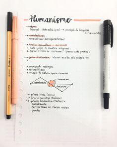A época literária Humanismo foi marcada pelo Renascimento, caracterizando, assim, o fim da Idade Média. School Motivation, Study Motivation, Studyblr, Planning School, Note Taking Tips, Bullet Journal Notes, Study Organization, Study Journal, Notes Design