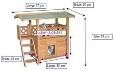 Kerbl Katzenhaus Lodge, 77 x 50 x 73 cm: Amazon.de: Haustier
