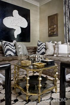 Sophisticated Living Room Design | House & Home