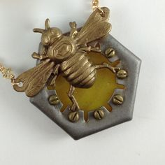Hardware Hex, a Bee in the Hive. $96.00, via Etsy.