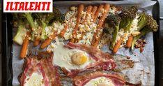 Uunipeltiruoka on helppoa ja maukas Good Food, Yummy Food, Food Inspiration, Feta, Brunch, Pork, Food And Drink, Healthy Recipes, Snacks