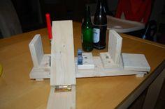 Beweglicher #Flaschenschneider aus #Holz