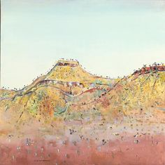 by Fred Williams Contemporary Landscape, Abstract Landscape, Landscape Paintings, Watercolor Paintings, Australian Painting, Australian Artists, Fred Williams, Pictures To Paint, Painting Pictures