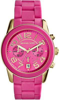 e93fc7e36a6 Michael Kors Women s Chronograph Mercer Pink Silicone Bracelet Watch 42mm  MK5890 Prodjena Michael Kors