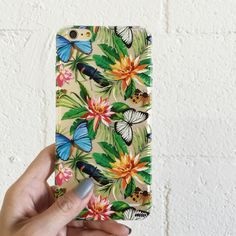 Clear Plastic Case Cover for iPhone 5 5S - Tropical Butterfly – milkyway