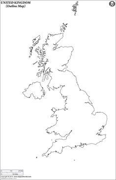 united kingdom outline map
