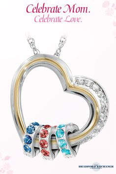 Give Mom a special piece of your heart this Mother's Day! Personalize this beautiful family pendant with up to 8 Swarovski crystal birthstone hearts for a one-of-a-kind gift she will always cherish. As always, this Bradford Exchange exclusive is backed by the best guarantee in the business, so you can always shop with confidence. Free personalization!