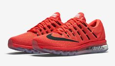 Nike Air Max 2016 Color Bright Crimson Black-University Red Style Code  e00a07f0c