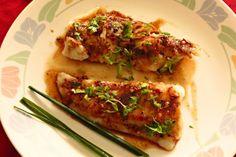 Fish Fillets with Lemon Honey Sauce #basa