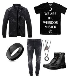 """""""Witch Of The Night"""" by king-of-jupiter on Polyvore featuring Killstar, Dsquared2, ASOS, Bling Jewelry, men's fashion, menswear, hot, witchcraft, men and emonight"""