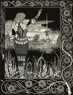 from 'Le Morte D'Arthur' by Aubrey Beardsley.