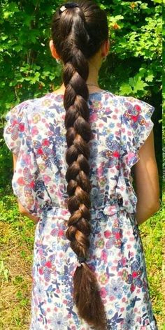 Thick braided and beautiful Braided Ponytail Hairstyles, Slick Hairstyles, Beautiful Braids, Beautiful Long Hair, Braids For Long Hair, Long Hair Cuts, Rapunzel Hair, Natural Hair Styles, Long Hair Styles