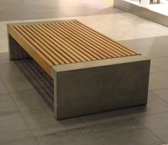 Public bench / contemporary / in wood / galvanized steel - PAXA by Blenda Design - NOLA