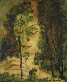 """silenceforthesoul: """" Francis Picabia (1879-1953) - Femme aux Arbres (Woman and the Trees), c. 1930, """""""