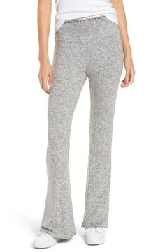 Make sure the weekend comfort is long lasting in sweatpants that are oh-so cozy from the smocked waistband to the flared hems.