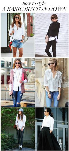 Yes, a closet staple! How to: styling a white button down.