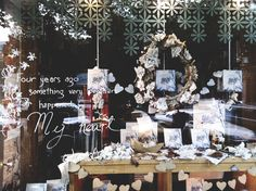 Pia Jane Bijkerk's bookstore window displays