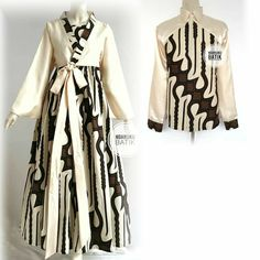 Batik Kebaya, Kebaya Dress, Batik Dress, Korea Fashion, Muslim Fashion, Hijab Fashion, Fashion Outfits, Dress Batik Kombinasi, Batik Muslim