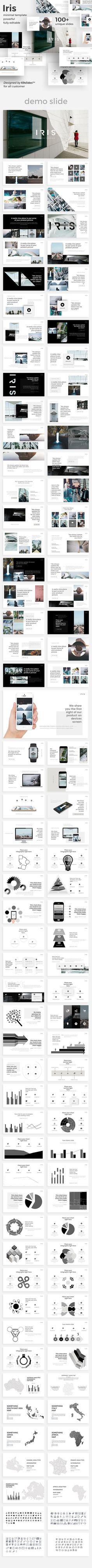 Iris Minimal Google Slide Template - Google Slides Presentation Templates #keynote #powerpoint
