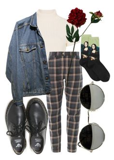 """there's something beautiful and tragic in the fallout"" by qimmig ❤ liked on Polyvore featuring Staud, Dr. Martens, Laura Cole and HOT SOX"
