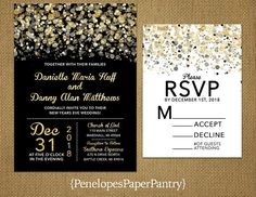 Penelopes Paper Pantry is proud to list our collection of Christmas, Holiday and Winter Wedding Invitations. The rustic wedding invitations are fully customizable for your big day. This listing is for printed invitations. There is a 24 count minimum per order or per color. Our