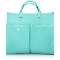 Jitney Tote (4.760 ARS) ❤ liked on Polyvore featuring bags, handbags, tote bags, purses, tiffany, bolsas, tiffany & co., blue purse, blue tote and blue handbags