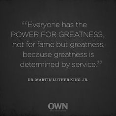 Today we honor the legacy of Dr. Martin Luther King, Jr. by sharing one of Oprah's favorite quotes.