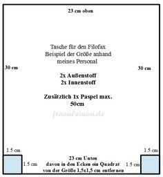 Hallo ihr Lieben,     heute zeige ich euch eine kleine Anleitung, wie ich mir meine Kalendertasche  für meinen Filofax Personal genäht hab...
