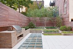 Fantastic outdoor kitchen in a Greenwich Village townhouse, by Turett Collaborative Architects of New York.
