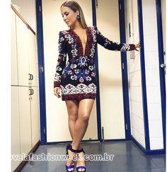 O look sensação de Claudia Leitte no The Voice Brasil.