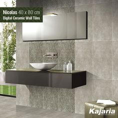 Design is making beauty emerge from your creations. Nicolas 40X80 cm Digital Ceramic Wall Tiles personifies beauty in its truest form. #KajariaCeramics