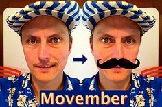 Movember, il mese precedentemente noto come novembre :-) è un evento di beneficenza della crescita dei baffi che si tiene nel mese di novembre